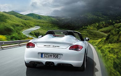 2010 Porsche Boxster Spyder wallpaper thumbnail.