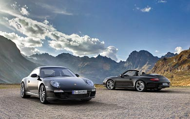 2012 Porsche 911 Black Edition wallpaper thumbnail.