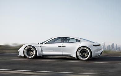 2015 Porsche Mission E Concept wallpaper thumbnail.