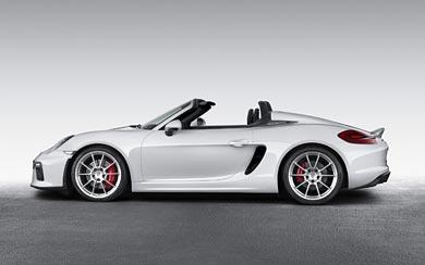 2016 Porsche Boxster Spyder wallpaper thumbnail.