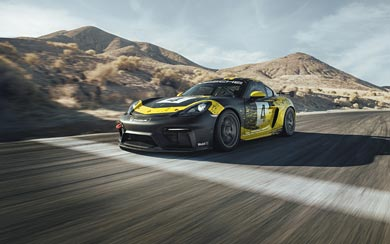 2019 Porsche 718 Cayman GT4 Clubsport wallpaper thumbnail.