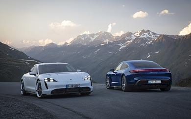 2020 Porsche Taycan wallpaper thumbnail.