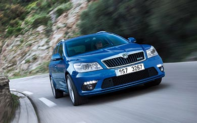 2009 Skoda Octavia RS Combi wallpaper thumbnail.