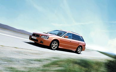 2002 Subaru Legacy GT-B Touring wallpaper thumbnail.