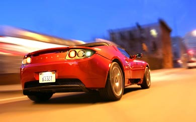 2008 Tesla Roadster wallpaper thumbnail.