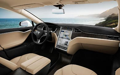 2013 Tesla Model S wallpaper thumbnail.