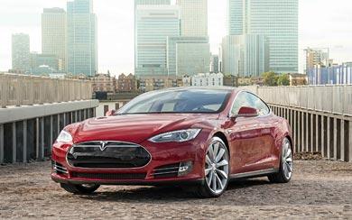 2014 Tesla Model S wallpaper thumbnail.