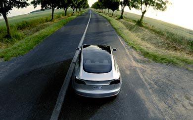 2016 Tesla Model 3 Prototype wallpaper thumbnail.