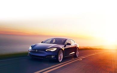 2017 Tesla Model S P100D wallpaper thumbnail.