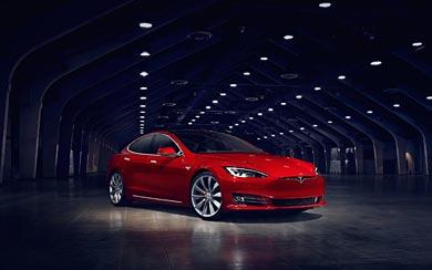 2017 Tesla Model S P90D wallpaper thumbnail.