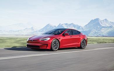 2021 Tesla Model S wallpaper thumbnail.