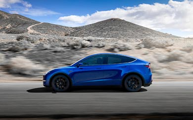 2021 Tesla Model Y wallpaper thumbnail.