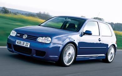 2002 Volkswagen Golf R32 wallpaper thumbnail.