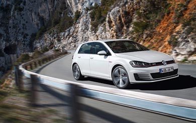 2014 Volkswagen Golf GTI wallpaper thumbnail.