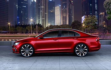 2014 Volkswagen Midsize Coupe Concept wallpaper thumbnail.