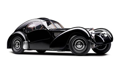 1936 Bugatti Type 57SC Atlantic Coupe wallpaper thumbnail.