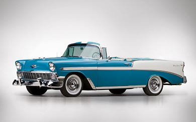 1956 Chevrolet Bel Air Convertible wallpaper thumbnail.