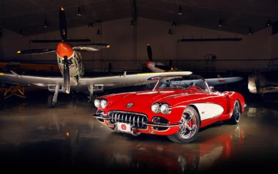 1959 Chevrolet Corvette By Pogea Racing wallpaper thumbnail.