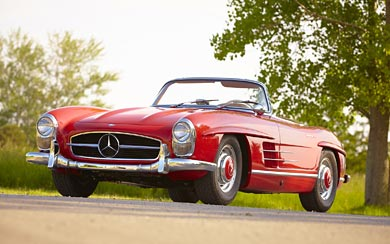 1960 Mercedes-Benz 300 SL Roadster wallpaper thumbnail.