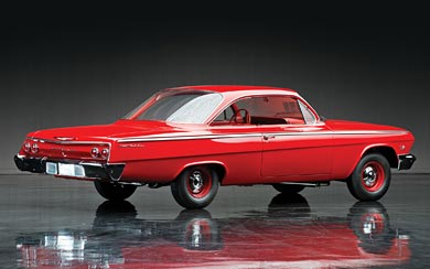 1962 Chevrolet Bel Air Sport Coupe wallpaper thumbnail.