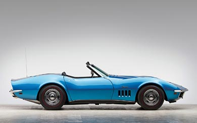 1969 Chevrolet Corvette Stingray 427 Convertible wallpaper thumbnail.