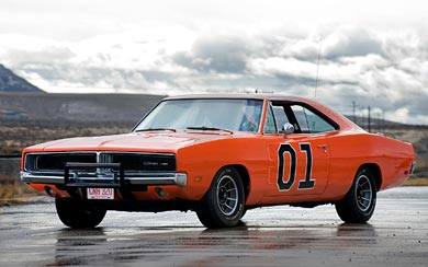 1969 Dodge Charger General Lee wallpaper thumbnail.
