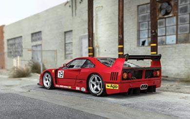 1989 Ferrari F40 LM wallpaper thumbnail.
