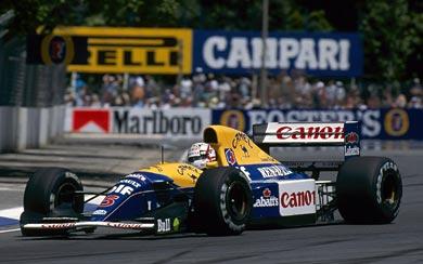 1992 Williams FW14B wallpaper thumbnail.
