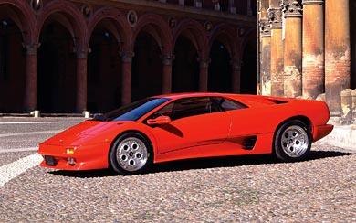 1993 Lamborghini Diablo VT wallpaper thumbnail.