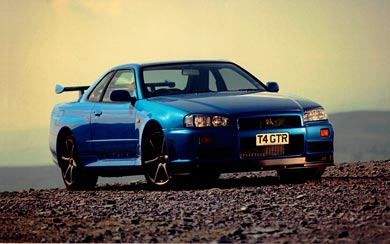 1999 Nissan Skyline GT-R V-spec wallpaper thumbnail.