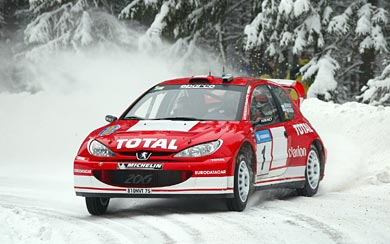 1999 Peugeot 206 WRC wallpaper thumbnail.