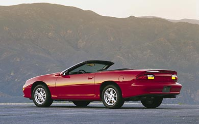 2002 Chevrolet Camaro Convertible wallpaper thumbnail.