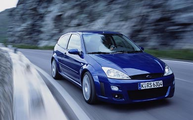 2002 Ford Focus RS wallpaper thumbnail.