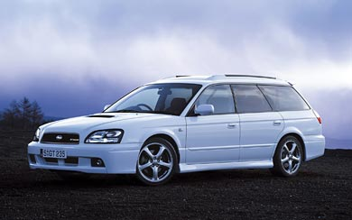 2002 Subaru Legacy GT-B Touring wallpaper thumbnail.