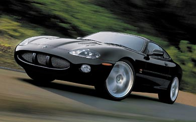 2003 Jaguar XKR wallpaper thumbnail.