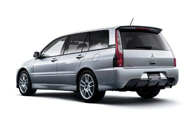 2005 Mitsubishi Lancer Evolution IX Wagon wallpaper thumbnail.