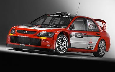 2005 Mitsubishi Lancer WRC05 wallpaper thumbnail.