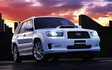 2005 Subaru Forester STI wallpaper thumbnail.