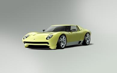 2006 Lamborghini Miura Concept wallpaper thumbnail.