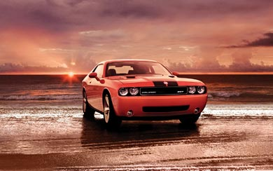 2008 Dodge Challenger SRT8 wallpaper thumbnail.