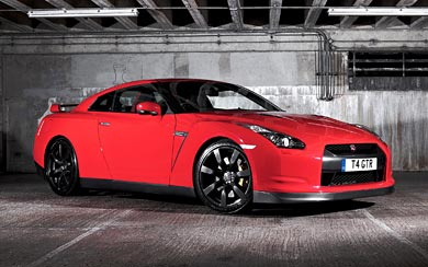 2008 Nissan GT-R Black Edition wallpaper thumbnail.