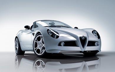 2009 Alfa Romeo 8C Spider wallpaper thumbnail.