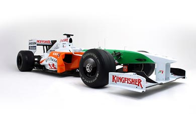 2009 Force India VJM02 wallpaper thumbnail.