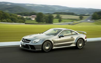 2009 Mercedes-Benz SL 65 AMG Black wallpaper thumbnail.