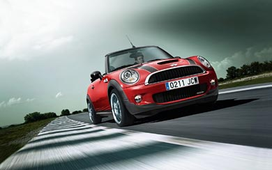 2009 Mini John Cooper Works Convertible wallpaper thumbnail.