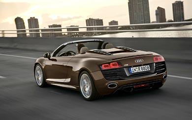2010 Audi R8 Spyder wallpaper thumbnail.