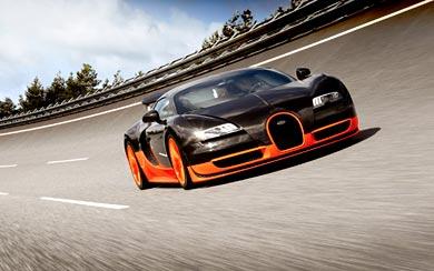 2010 Bugatti Veyron 16-4 Super Sport wallpaper thumbnail.