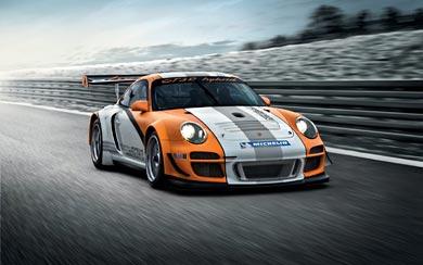 2010 Porsche 911 GT3-R Hybrid wallpaper thumbnail.