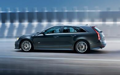 2011 Cadillac CTS-V Sport Wagon wallpaper thumbnail.