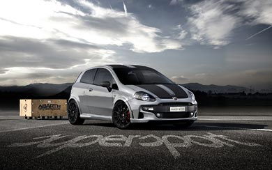 2011 Fiat Abarth Punto Evo wallpaper thumbnail.